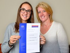 Sharing your end of course certificate with an encouraging host mum