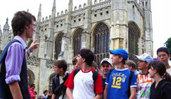 Short Course students enjoying a day excursion to Cambridge