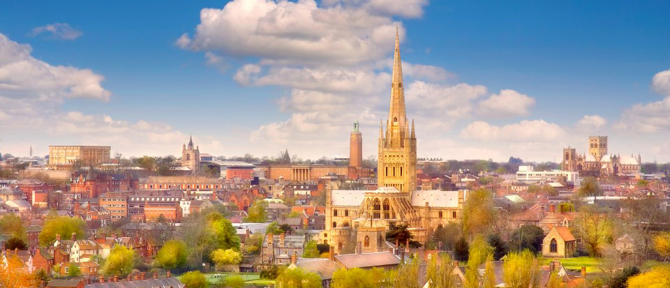 Study Holiday courses: Norwich panorama